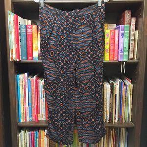 Free People Geometric Print Pull On Lounge Pants S
